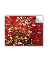 "ArtWall Art Appealz ""Interpretation in Red Almond Blossom"" Removable Wall Art Graphic by Vincent Van Gogh, 36 by 48-Inch"