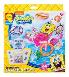 Alex Toys Kids 10-Piece Sponge Bob Ring Toss in the Tub Bath Toy (817SB)