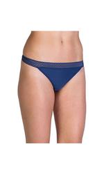 ExOfficio Women's Give-n-Go Lacy Low Rise Bikini Brief - Indigo - Size: L