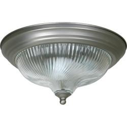 """Cordelia Lighting Two-Light 13-1/4"""" Ceiling Fixture - Satin Nickel"""