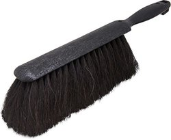 "Carlisle 3638003 Flo-Pac Plastic Handle Counter Brush, Horsehair Bristles, 9"" Length, Black"