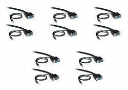 C&E Shielded 6-Ft SVGA Cable w/ 3.5mm Audio HD15 Male - 5 Pack (CNE498756)