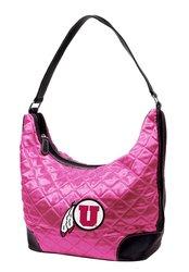 NCAA Utah Women's Quilted Hobo Handbag - Pink