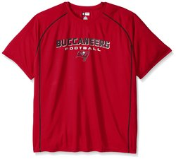 Tampa Bay Buccaneers Men's Short Sleeve Synthetic Screen Tee -Red -Sz: XXL