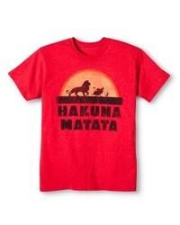 Disney Men's Hakuna Matata T-Shirt - Red - SizeL Small