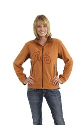 "Divas SnowGear Women's ""Divas"" Etched Fleece Jacket - Burnt Orange -XXXL"