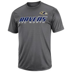 NFL Men's Baltimore Ravens Short Yardage IV Synthetic Tees - Storm Gray- S