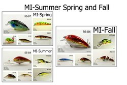 Akuna Seasonal Lures for Bass Fishing - Michigan - Pack of 15