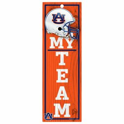 NCAA Auburn Tigers 4 x 13 My Team Wood Sign