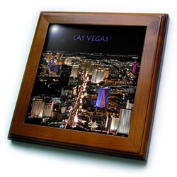 3dRose Las Vegas The Strip Ceramic Tile- 6-Inch
