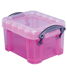 "Really Useful 0.14 Liter 3-1/4""x 2-1/2""x 2"" Plastic Storage Box - Pink"