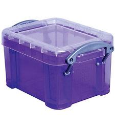 "Really Useful 0.14 Liter 3-1/4""x 2-1/2"" x 2"" Plastic Storage Box - Purple"