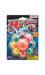 Hi-Bounce Assorted Super Ball - Pack of 9