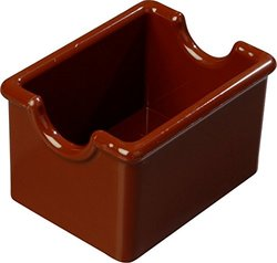 "Carlisle 455028 Styrene Sugar Caddy, 20-Packet Capacity, 2.12"" x 2.62"" x 3.43"", Lennox Brown (Case of 24)"