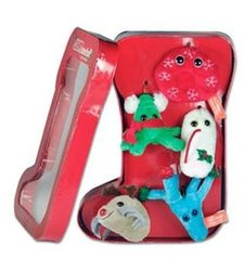 Giant Microbes Christmas Stocking Box - Red