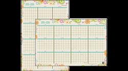 2015 - 2016 Garden Party Academic Erasable Wall Calendar