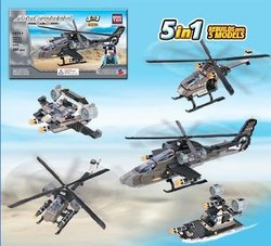 Air Force Apache Helicopter - Building Set By Brictek (15711)
