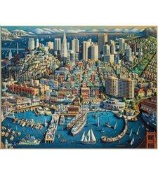 MasterPieces 1000-piece San Francisco Collector Suitcase Puzzle