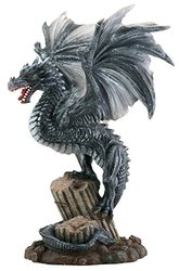 Dragon on Broken Column Figurine Display