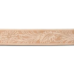 "Tandy Leather Western Floral Embossed Belt - Blank - Size: 1-1/2""x 42"""