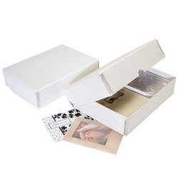 Lineco Greeting Card Storage Box - Pure White