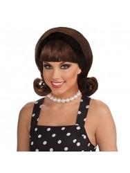 Forum Novelties Women's Flirting 50's Flip Wig - Brown - One Size