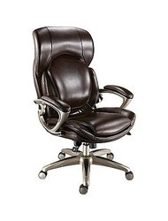 Staples Air High-Back Bonded Leather Manager's Chair - Chocolate