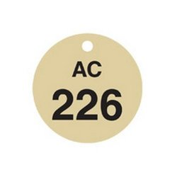 Brady 23485, Stamped Brass Valve Tags (Pack of 10 pcs)