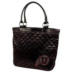 NCAA Utah Utes Sport Noir Quilted Tote Bag, Black