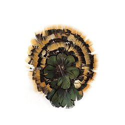 Zucker Feather Products Iridescent Feather Pad, Natural/Amber