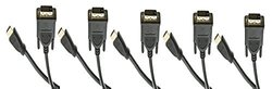 C&E 5-PackHDMI Male to DVI Male CL2 rated 15 Feet, CNE544144