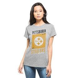 NFL Pittsburgh Steelers Women's '47 Hero Tee - Vintage Grey - Size: Large