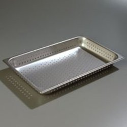 2.5 inch Depth DuraPan 18-8 Stainless Steel Light Gauge Full Size Perforated Food Pan -- 6 per case