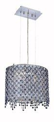 Elegant Lighting 1392D14C-SA/RC Moda 13.5-Inch High 2-Light Chandelier, Chrome Finish with Sapphire (Blue) Royal Cut RC Crystal