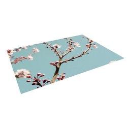 """Kess InHouse Bree Madden """"Blossoms"""" Outdoor Floor Mat/Rug, 5-Feet by 7-Feet"""