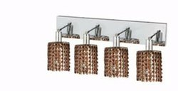 Mini Topaz Crystal Sconce w 4 Lights in Chrome