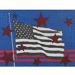 artisticle American Flag 8x10 Signed Art Print