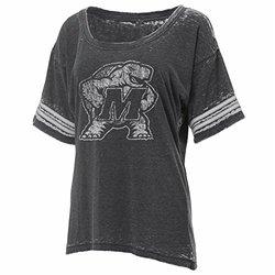 Ouray Sportswear NCAA Women's Football Jersey Tee - Charcoal - Size: L