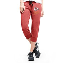 NFL Kansas City Chiefs Women's '47 Forward Stride Capri Pants, Shift Red, Medium