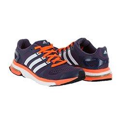adidas Women's Adistar Boost  Running Shoe - Purple/Orange - Size: 10