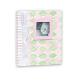 Penny Laine Papers Girl's Harlequin Pattern Keepsake Baby Books