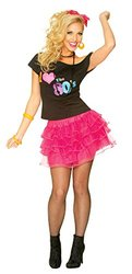 Costume Culture Women's 80's Petticoat Skirt, Hot Pink, One Size