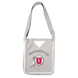 NCAA Utah Utes Women's Hoodie Crossbody Purse, Gray