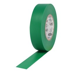 "ProTapes Pro Plus Vinyl General Purpose Electrical Tape, 600V Dielectric Strength, 66' Length x 3/4"" Width, Green (Pack of 100)"