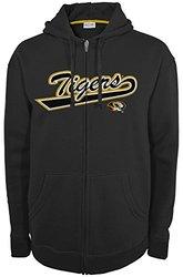 Missouri Tigers Men's 2 Full Zip Hooded Fleece Shirt - Black - Size: Small