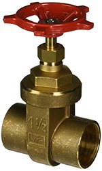 RWV  BRASS GATE VALVE WITH SOLDER ENDS, 1-1/2 IN, LEAD FREE per Each