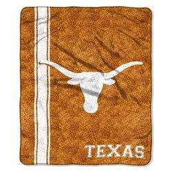 """Northwest NCAA 50"""" x 60"""" Texas Sherpa Throw - Orange / White"""