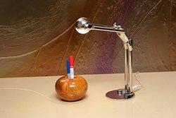 Contribute to Max 15.74 in. Artistic Silver LED Desk Lamp