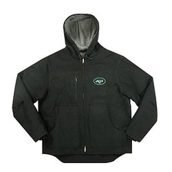 NFL New York Jets Men's Fleeced Lined Hooded Jacket - Black - Size: 2X