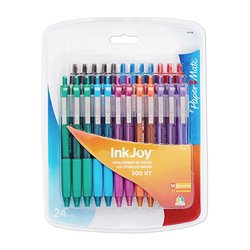 Paper Mate InkJoy 300RT Retractable Ballpoint Pen - Assorted Colors - 24-Count